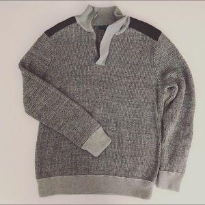 Banana Republic gray quarter zip pullover